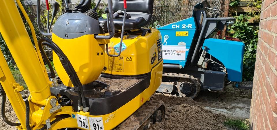 Tuin Uitgraven Met Graafmachine
